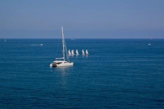 Средиземно море от терасата на музея Пикасо.