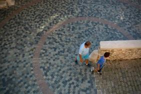 Туристи пред музея Пикасо.