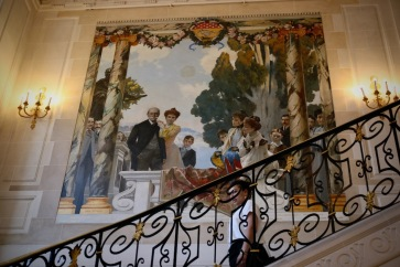 Стълбището в музея Масена.