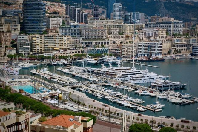 Пристанището на Монако.