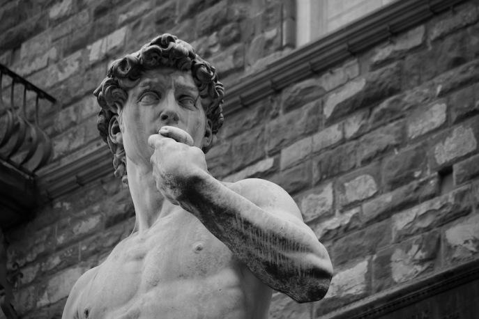 Копието на статуята на Давид.