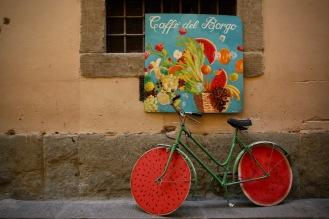 По улиците на Флоренция.
