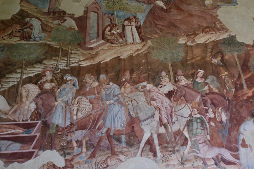 Фрагмент от стенописа на Франческо Траини.