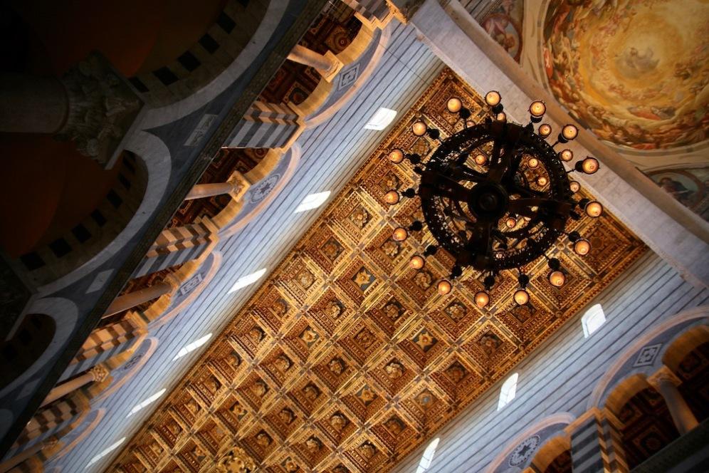 Тавана на катедралата на Пиза.