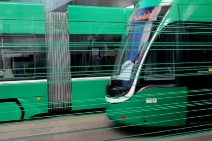Трамваите в Базел.
