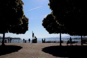 На брега на Цюрихското езеро.