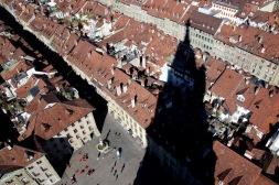 Гледката от върха на камбанарията.