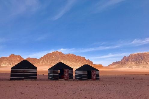 Лагерът Wadi Rum Quiet Village.