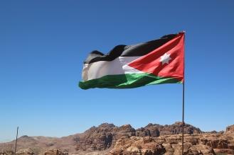 Флагът на кралство Йордания.