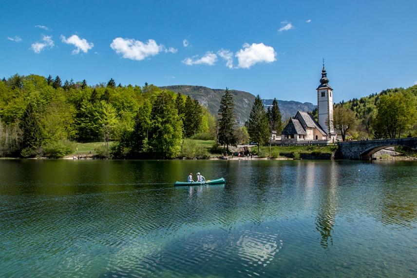 Разходка в eзерото Бохин