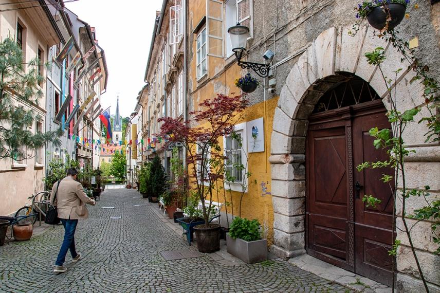 Из малките улички в Любляна.