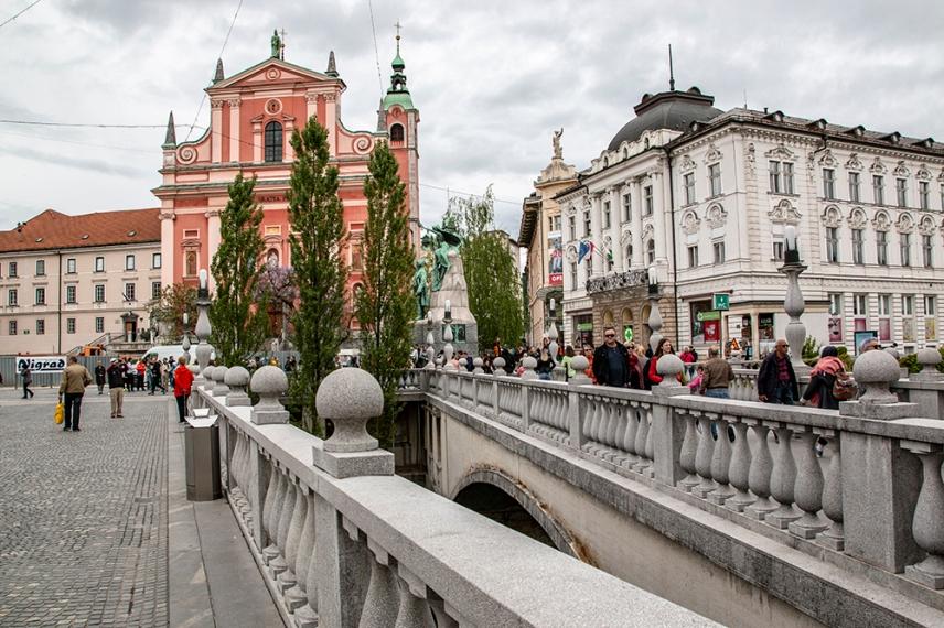 Тройният мост, по проект на словенския архитект Йоже Плечник.