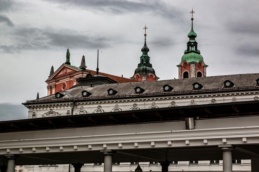 Покривите на Любляна.