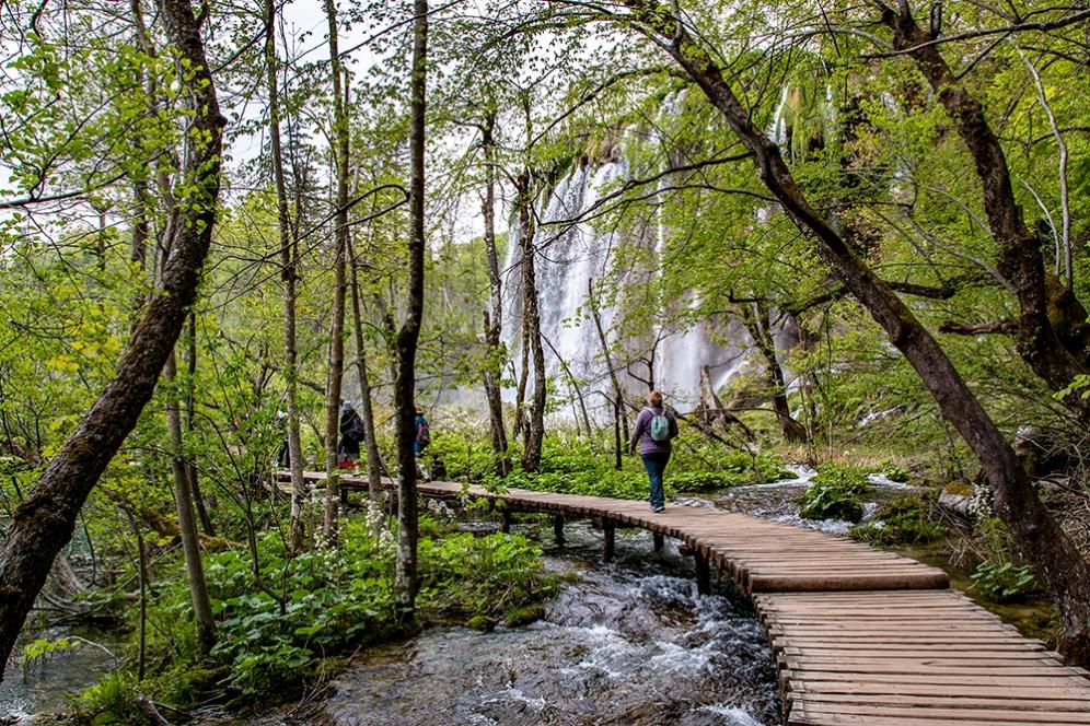 Най-красивият водопад в парка Плитвички езера.