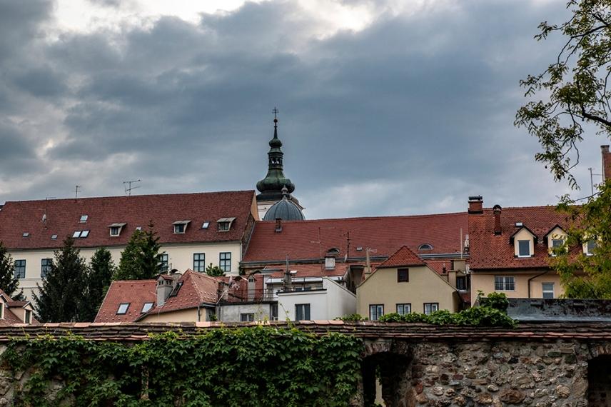 Покривите на Загреб.