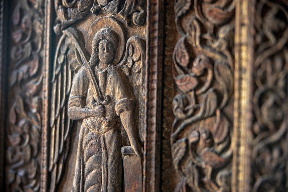 Портата на църквата Ставрополеос.