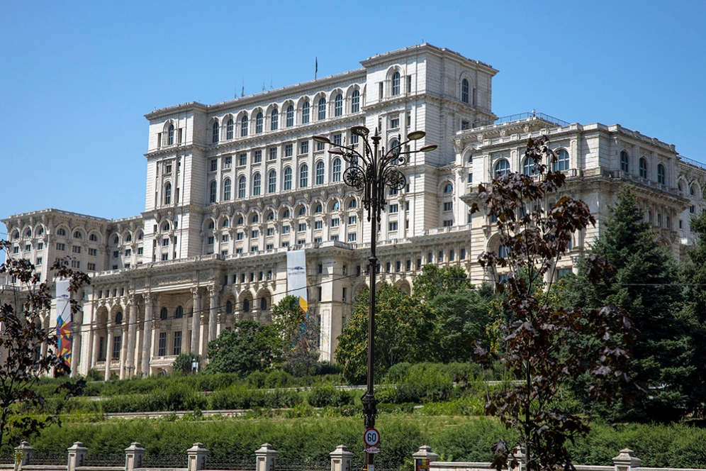 Румънският парламент.