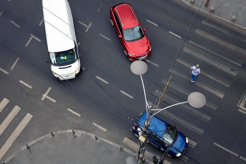 На кръстовището на Calea Victoriei.