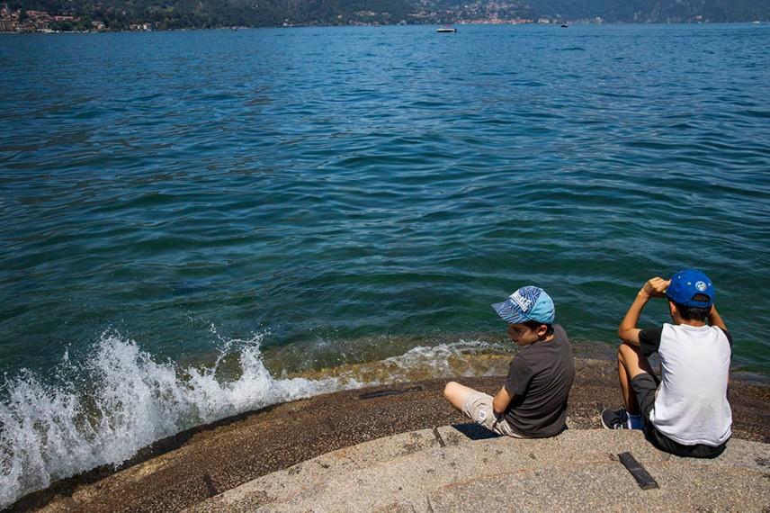 На брега на езерото в Беладжо.