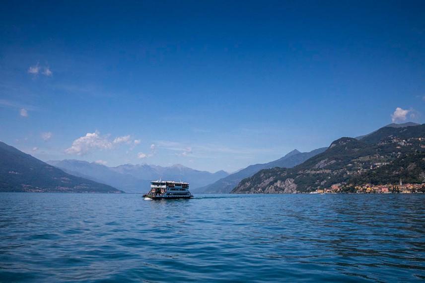 Езерото Комо между Беладжо, Менаджо и Варена.