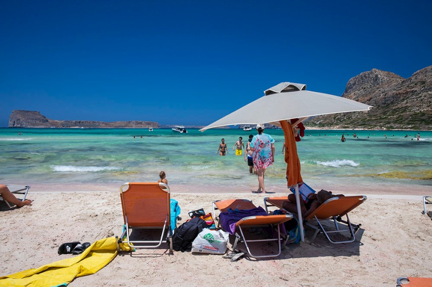 Плажът Балос.