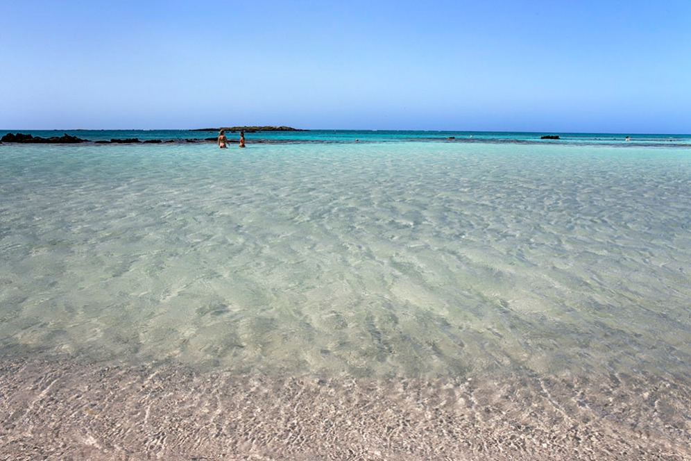 Кристално чистите води на остров Елафониси.