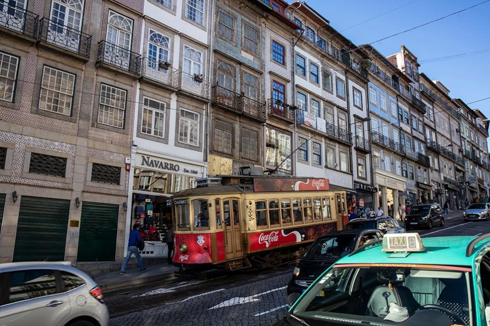 Старите трамваи в Порто.