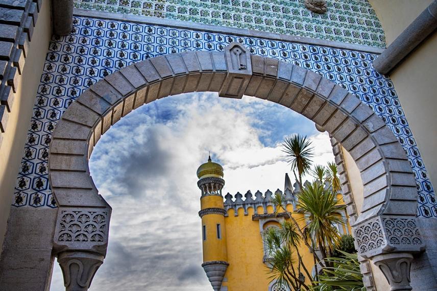 Главната порта на двореца Пена.