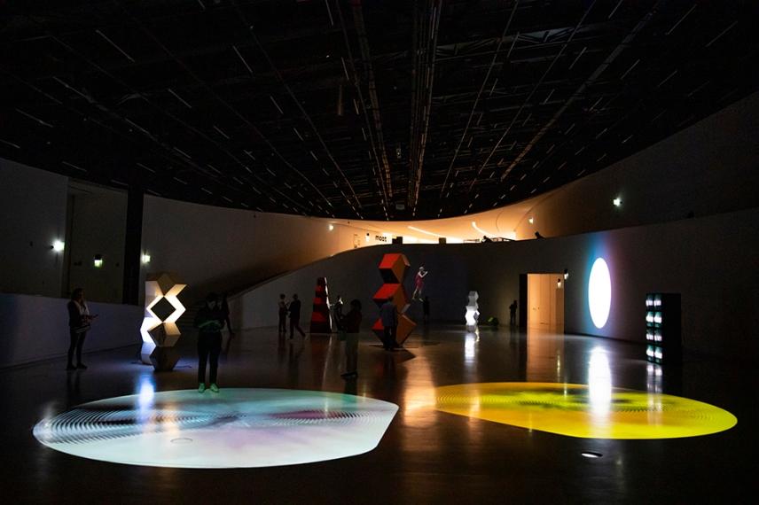 Изложбата Animal Vector е потапящо и мултисензорно изживяване.