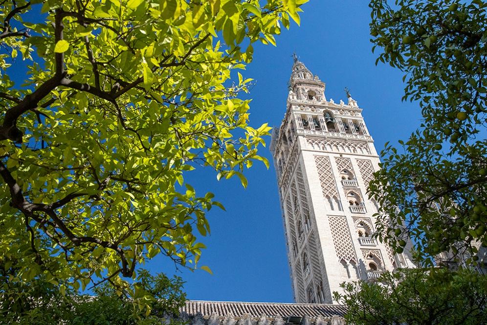 Бившето минаре, което било трансформирано в кулата Хиралда.