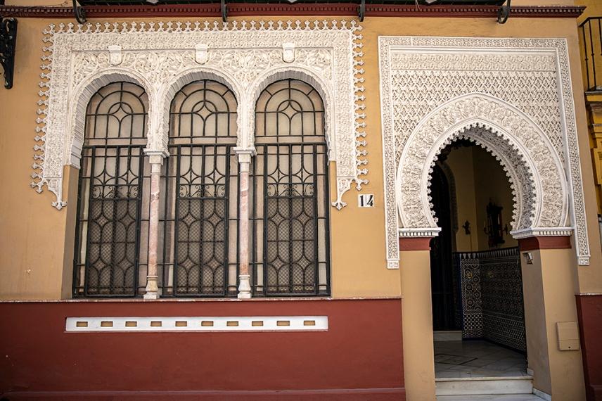 Mудехарската архитектура по малките улички в центъра.