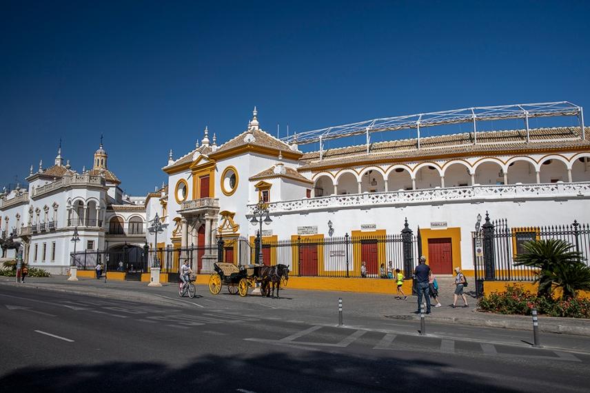 Арената за борба с бикове Маестранса в Севиля.