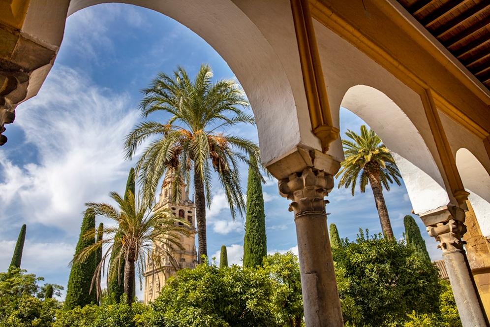 Вътрешния двор на катедралата Мескита.