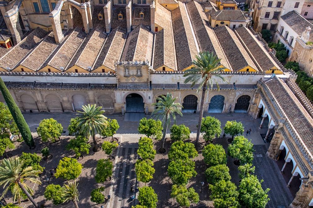 Вътрешният двор на катедралата Мескита.