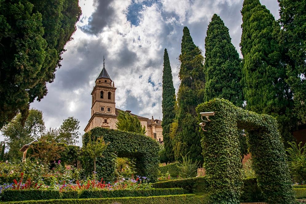 В градините на Кулата на дамите.