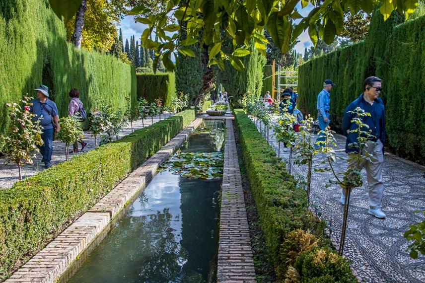 В градини на двореца Хенералифе.