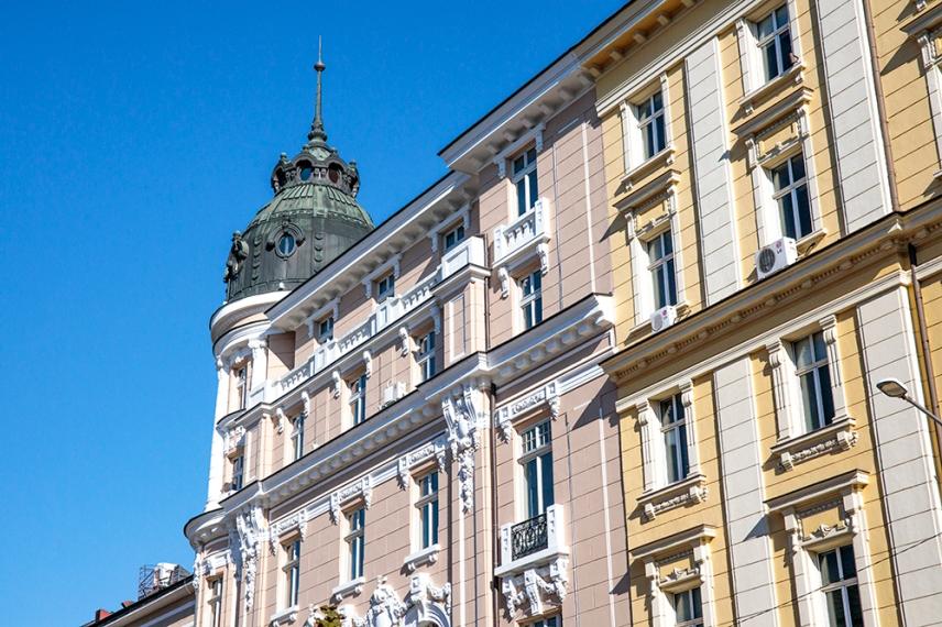 Архитектурата в центъра на София.