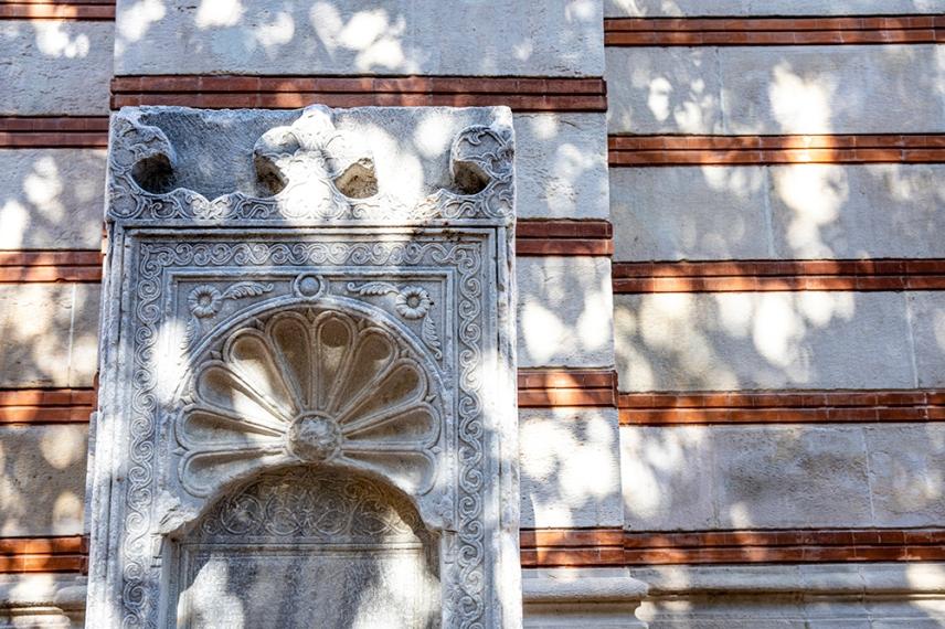Детайл от фасадата на Музея за история на София.