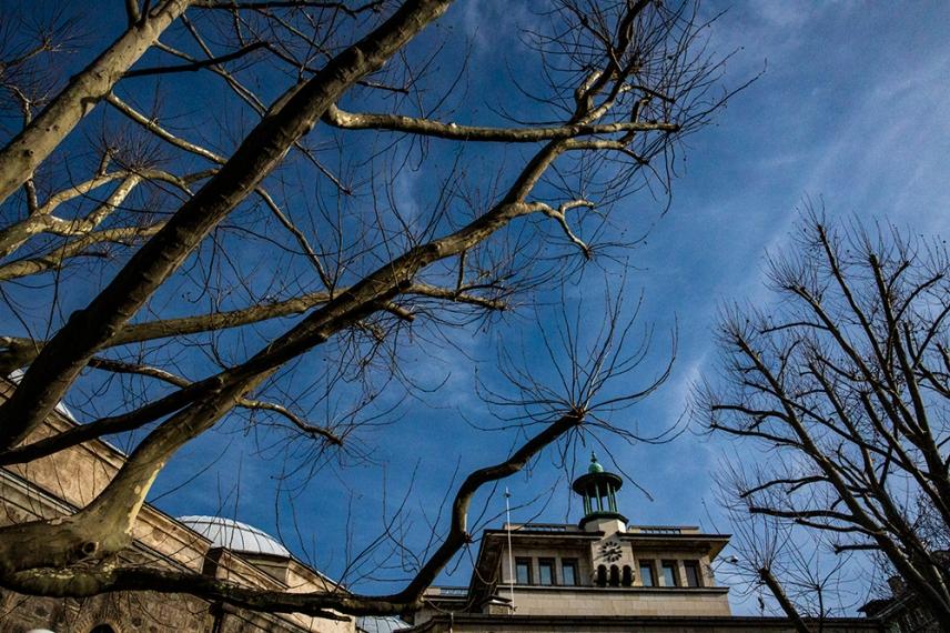 Покривът на Българска Народна Банка.