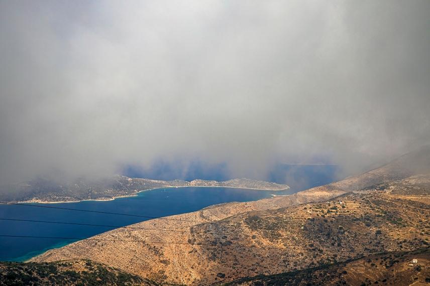 В облаците на Аморгос