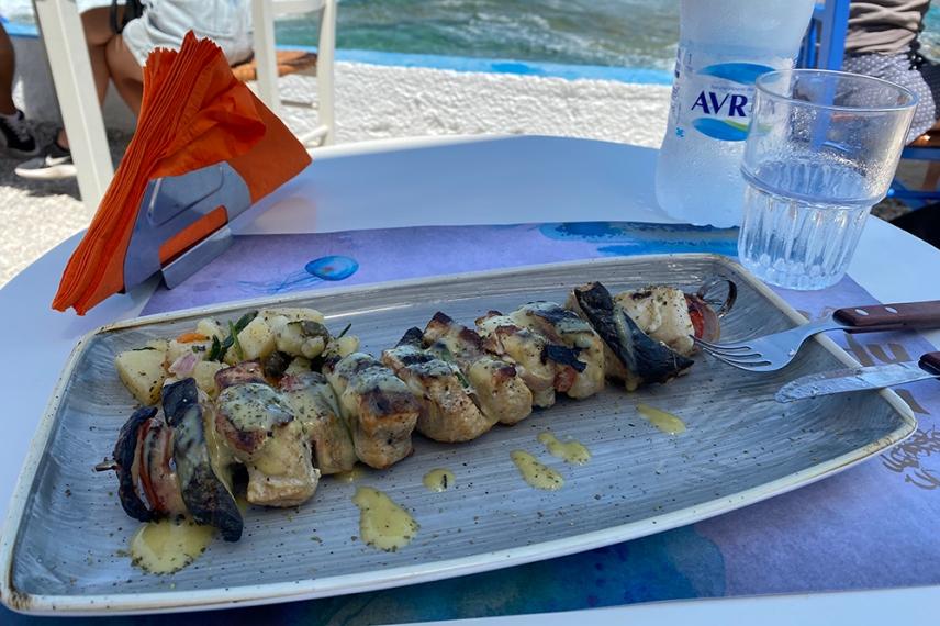 Рибено шишче в ресторант Медуза - Мандракия