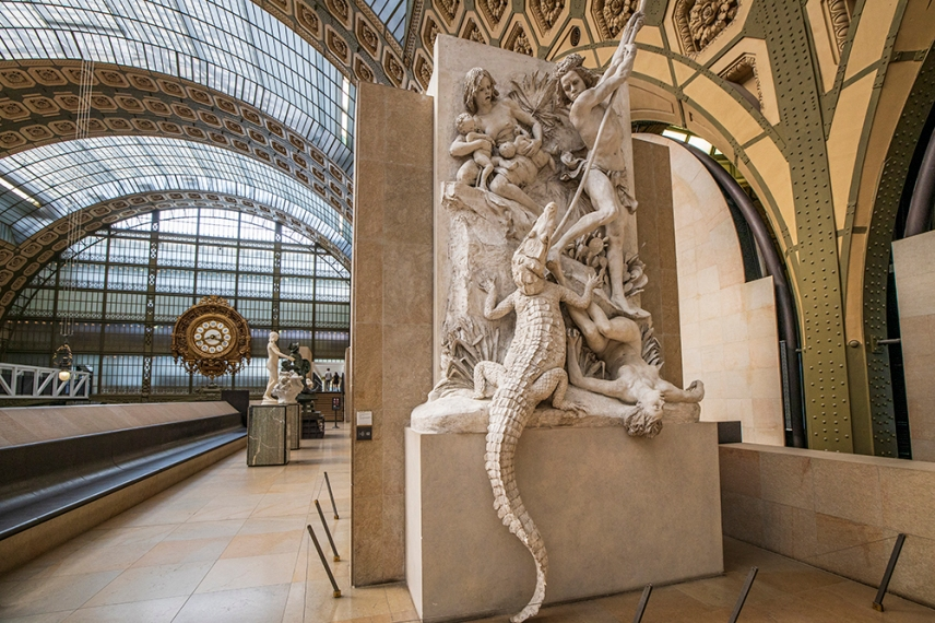 Ловци на алигатори -Луи-Ернест Бариас -музея Орсе.