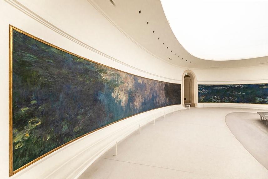 Водните лилии на Клод Моне в музея Оранжери, Париж.