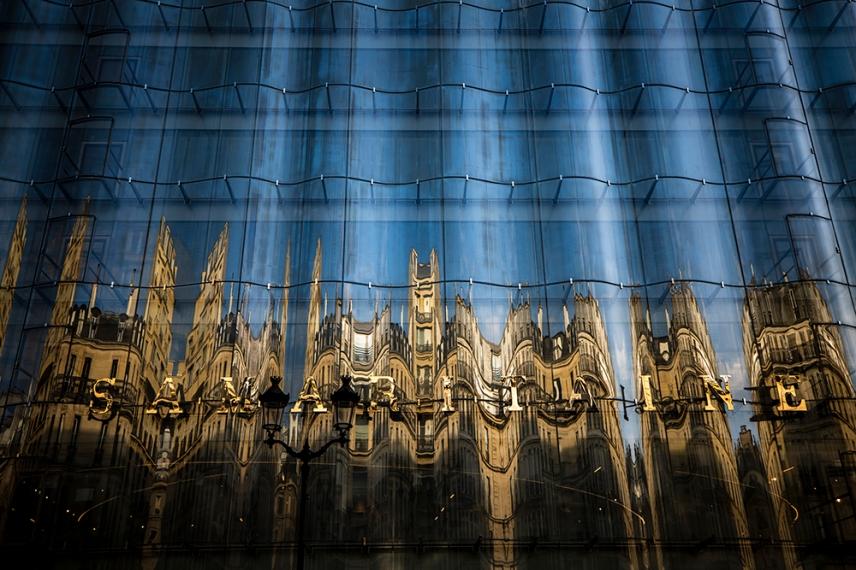Фасадата на Самаритан, Париж.