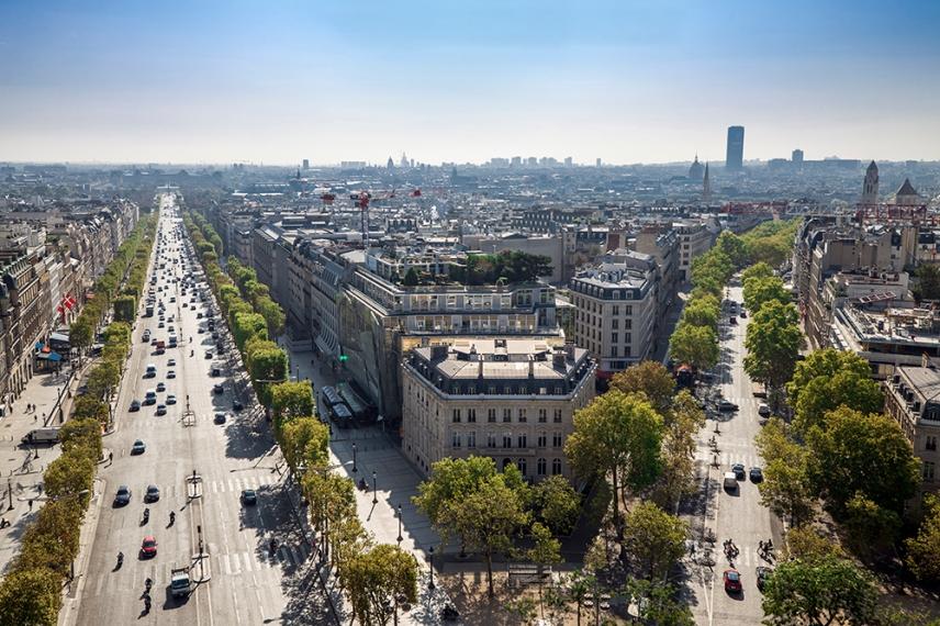 Шан-з-Елизе от Триумфалната арка, Париж.