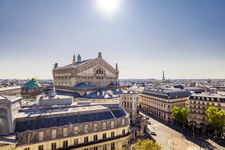 Гледката от терасата на Galeries Lafayette, Париж.