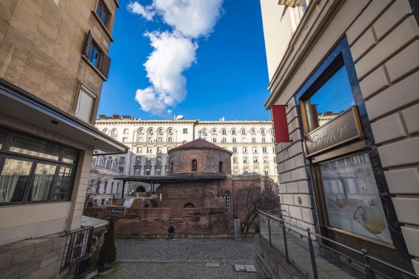 Южната фасада на Ротондата Св.Георги, София